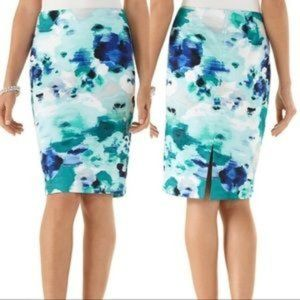 WHBM Watercolor Pencil Skirt Size 2